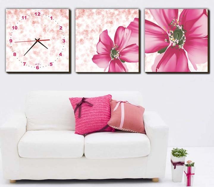 wall frame with a watch,photo frame,bedroom or living room wall ...
