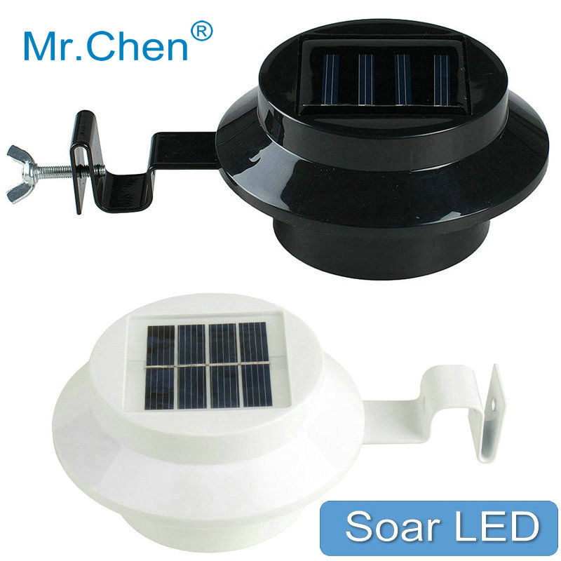 New Outdoor Garden 8 Led Solar Shed Eaves Work Light Lamp: Waterproof 3 LEDS Outdoor Lighting Automatic Sensor Aisle