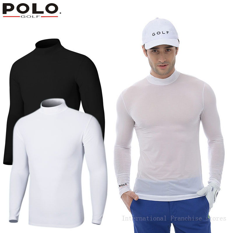 Authentic Polo Men Long Sleeve T Shirt Compression Top