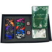 High Quality Poker Chips Set Gift Box Casino Chips Texas Holdem Poker Set 50 Chips 2