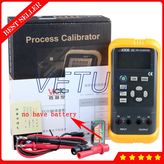 VICTOR 03 Multifunction Process Multimeter Calibrator Meter of high precision RTD tester free shipping newest mastech ms7220 thermocouple calibrator meter tester thermocouple calibrator express shipping