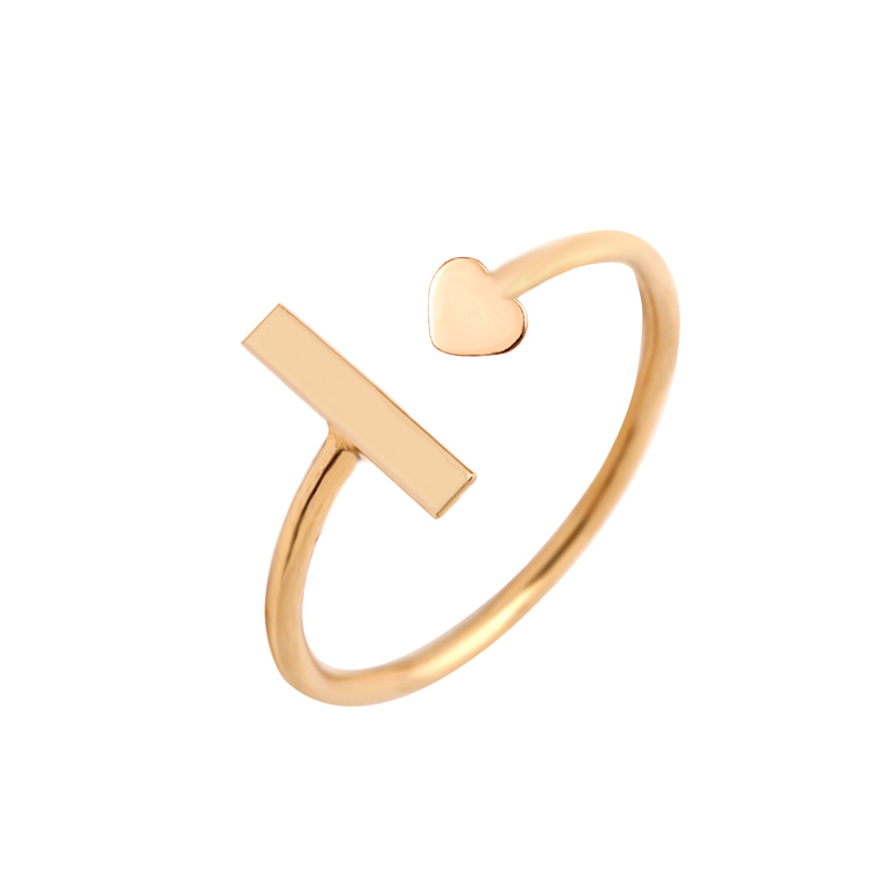 Infinity Love Heart Adjustable Engraved Ring