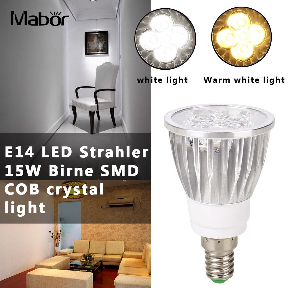 LED Bulb Bright Lighting Fixture E14 Room Lighting 7.8*4.6*4.6cm Household Accessory Spotlight Bulb Indoor Outdoor