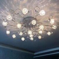 Led Bedroom Ceiling Light Modern Minimalist Circular European Style Living Room Crystal Remote Control Headlight Lighting