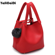 Top Handle Women Bags Fashion Pu Women s Leather Handbags Black Women Bag Tassel Fur Bag