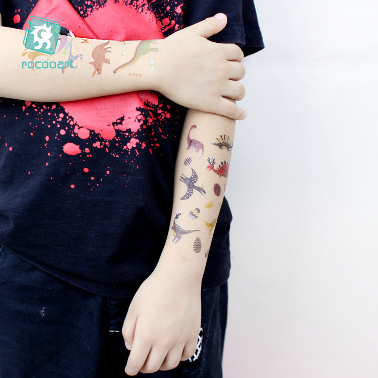 15Pcs New Dinosaurs Tattoo Stickers Children Birthday 39 s Gift Fake Tatoo Kids Tatuajes Body Hand Art Waterproof Temporary Taty in Temporary Tattoos from Beauty amp Health