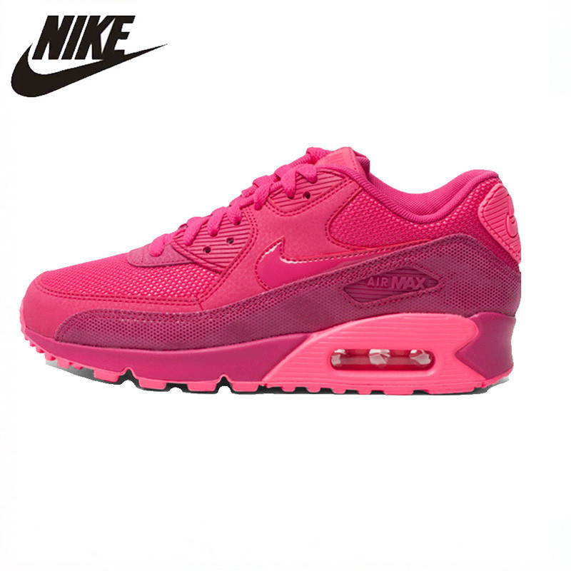 free shipping 2f9cc 7a6e1 Nike AIR MAX 90 PREMIUM Women Running Shoes,Authentic New Arrival Women  Outdoor Sports Sneakers Trainers Shoes