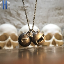 Original Jewelry 2019 New Necklace Small Monster Demon Pendant Simple 925 Sterling Silver Female