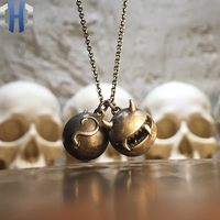 Original Jewelry 2019 New Necklace Small Monster Demon Pendant Simple 925 Sterling Silver Necklace Female