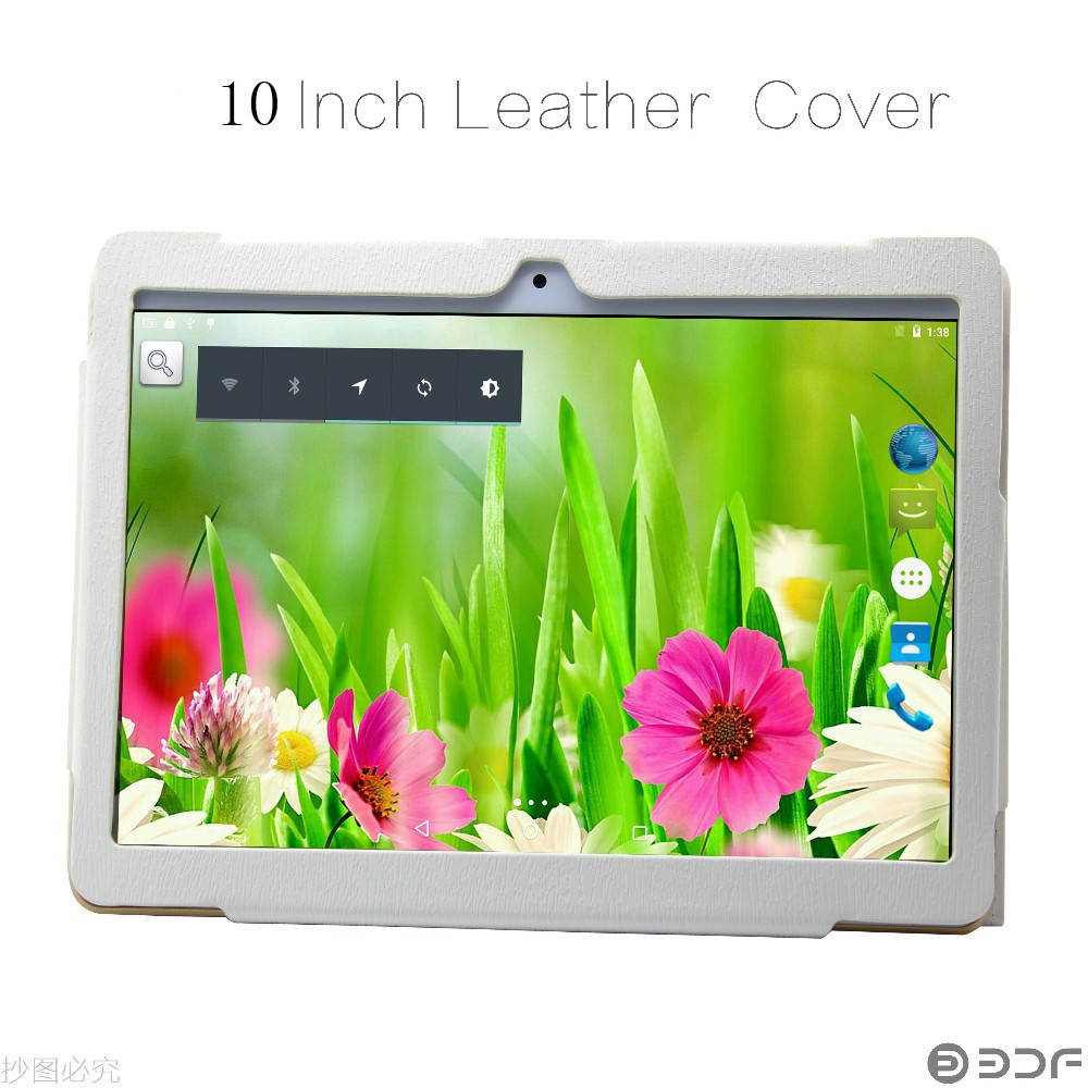 New 10 inch Original 3G Phone Call Android Quad Core Leather Cover Holster IPS font b