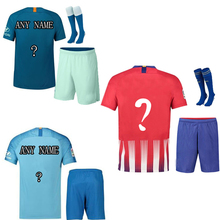 AAA+best quality The European 2018-19 Customized Men's T-shirt sets survetement camisetas shirt 2019 Men size S-2XL