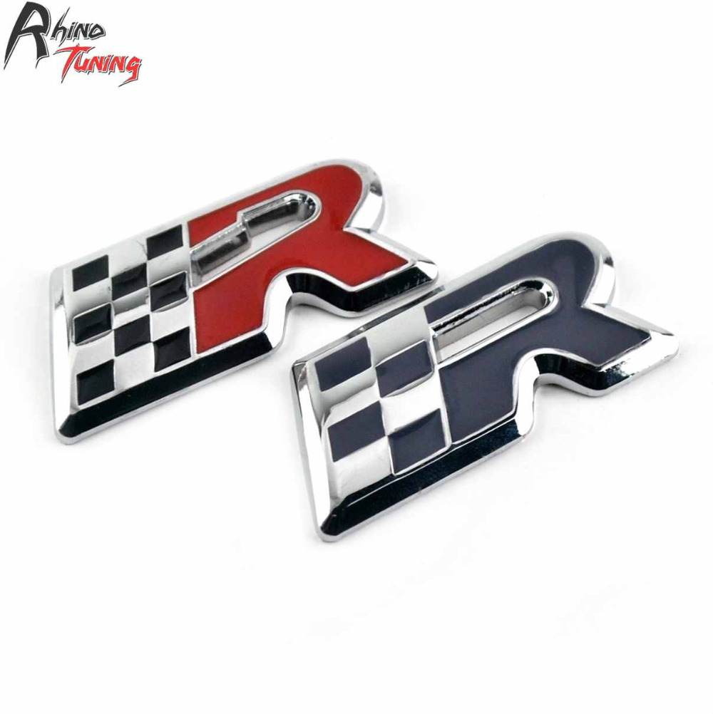 Rhino Tuning Car Lettering Logo Sign Emblem Auto Styling Racing Sticker For Leon Cupra 2010 R Badge 20798
