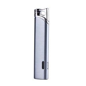Image 5 - Top Kwaliteit Compacte Turbo Aansteker Gas Aansteker Strip Winddicht Alle Metalen Aansteker 1300 C Butaan Geen Gas