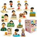 14 Unids/lote Japanese Anime Cartoon Chibi Maruko Chan Acción PVC Figure Sakura Momoko Happy Family Mini Figura Juguetes Del Envío Libre