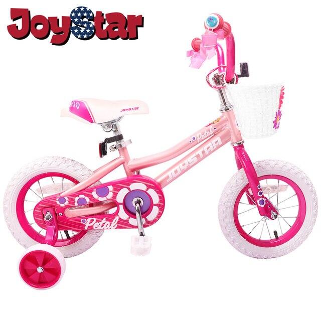 בנות אופניים עם סל & אימון גלגלים עבור 14 & 16 אינץ אופני ילד ילד ילדי אופניים, כחול & ורוד & סגול