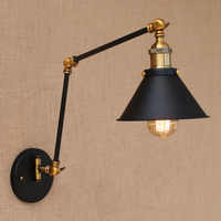 Adjustable Long Swing Arm Wall Light Fixture Edison Retro Vintage Wall Lamp Loft Style Industrial Wall Sconce Appliques LED