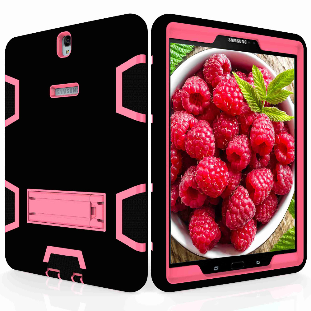 AXBETY For Samsung Galaxy Tab S3 9.7 T825 820 Case Full Protection Stand Heavy Duty Silicone Hard Cover For Samsung Tab S3 T825