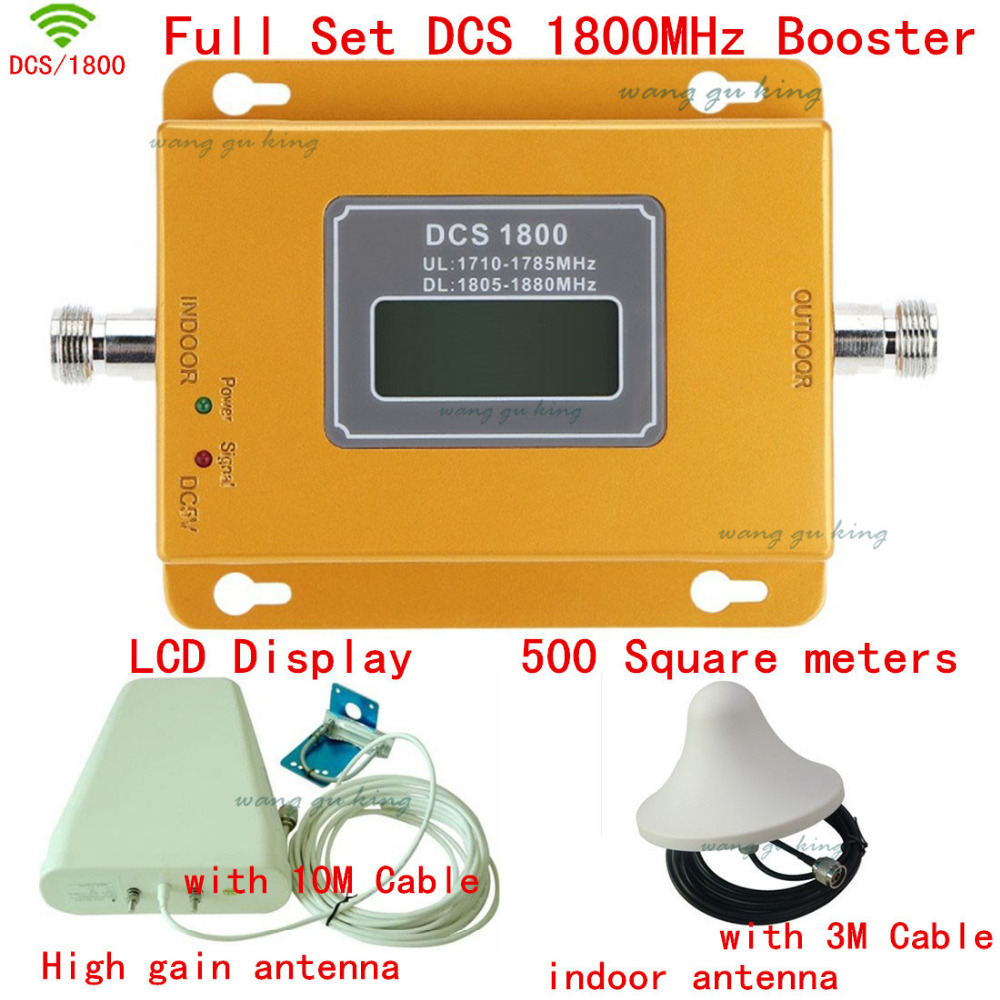 Full Set Top quality LCD 4g DCS 1800MHZ mobile signal booster DCS,Phone signal repeater ,DCS signal amplifier,coverage 500m2Full Set Top quality LCD 4g DCS 1800MHZ mobile signal booster DCS,Phone signal repeater ,DCS signal amplifier,coverage 500m2