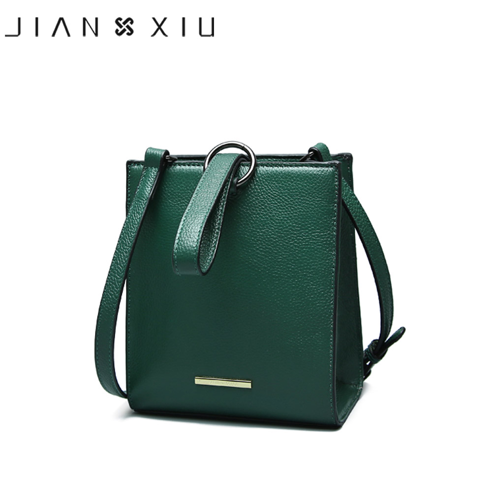 JIANXIU Brand Genuine Leather Handbags Sac a Main Mujer Women Messenger Bag Small Shoulder Crossbody Bags Round Ring Newest Tote jianxiu brand fashion women leather handbags crocodile pattern messenger bags sac a main small shoulder crossbody bag chain tote