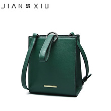 JIANXIU Brand Genuine Leather Handbags Sac a Main Mujer Women Messenger Bag Small Shoulder Crossbody Bags Round Ring Newest Tote