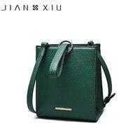 JIANXIU Nhãn Hiệu Genuine Leather Handbags Sac một Chính Phụ Nữ Mujer Sứ Túi Nhỏ Shoulder Bags Crossbody Vòng Nhẫn Mới Nhất Tote