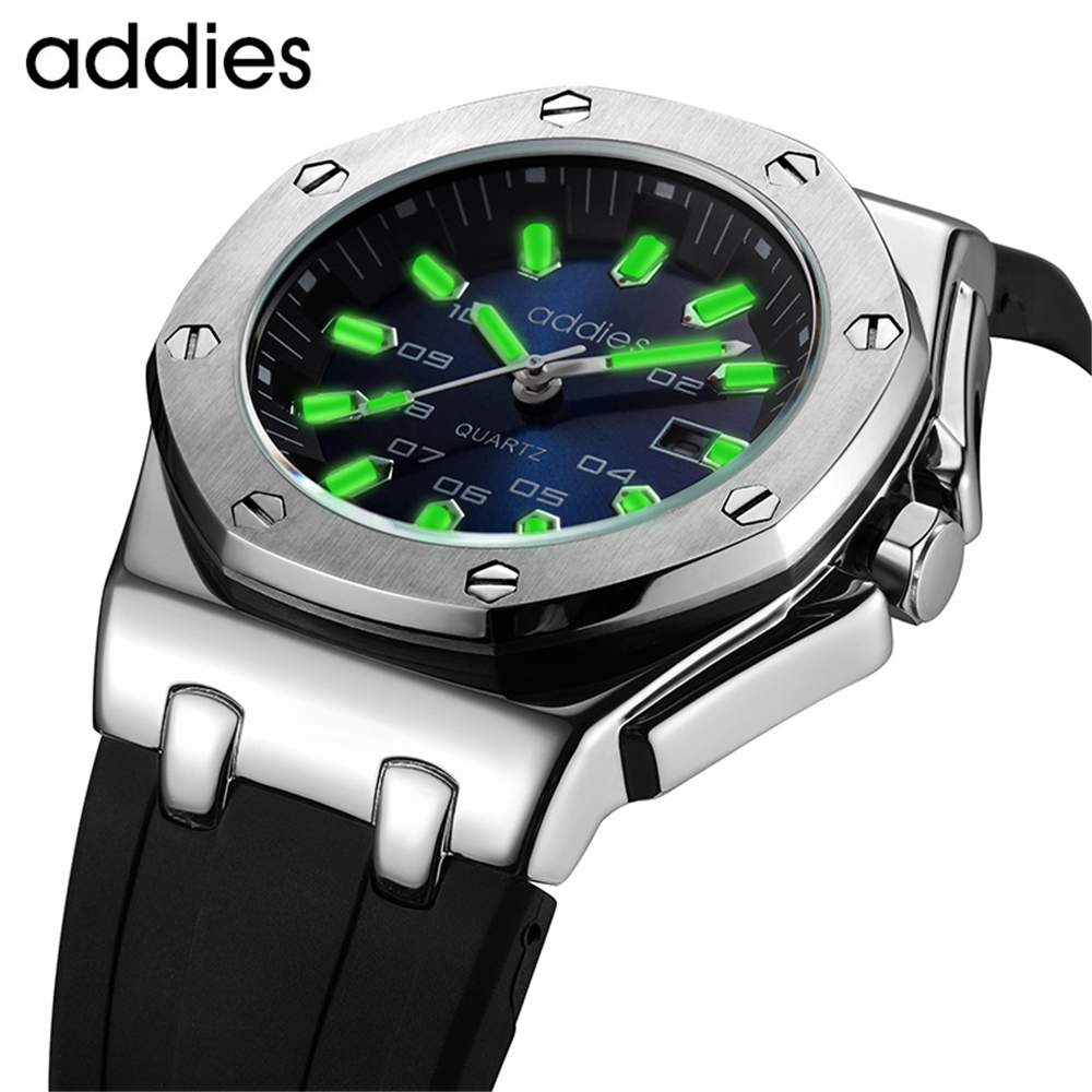 Addies Men Watches Top Brand Luxury Watch Steel Quartz Sport Watch Men Luminous Watch Clock Military Wristwatch Waterproof HoursAddies Men Watches Top Brand Luxury Watch Steel Quartz Sport Watch Men Luminous Watch Clock Military Wristwatch Waterproof Hours