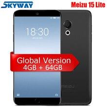 Orijinal Meizu 15 Lite M15 4 GB 64 GB Snapdragon 626 Octa Çekirdekli cep telefonu 4G LTE 5.46