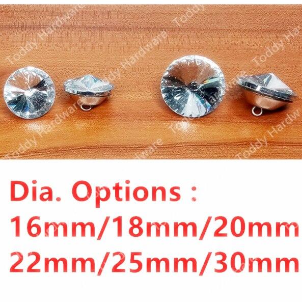 5 Stks/partij Dia. 16mm/18mm/20mm/22mm/25mm/30mm Crystal Decoratieve Meubels Hardware Accessoires Decoratie Sofa Nail Sofa Knop Obstructie Verwijderen