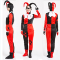 Новые Фантазия Взрослых Harleyquinn Классический Харли Квинн Косплей Костюм Хэллоуин Костюмы Для Женщин