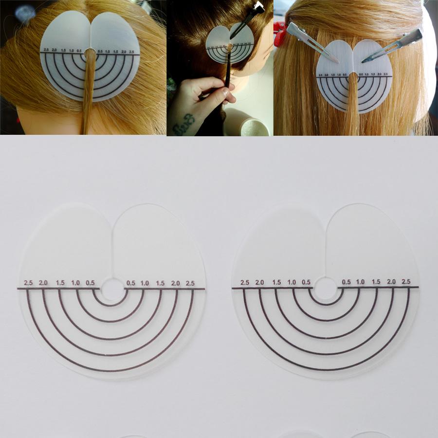 50pcs Heat Insulation Sheet Protector Shield Scale Mark Styling Tools For Round Tip Keratin Hair Extensions Beauty Salon Tool