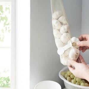 Image 2 - FOURETAW créatif costume réticulaire pour la nourriture légumes fruits pomme de terre ail sac poubelle tenture murale maison bureau cuisine sac de rangement