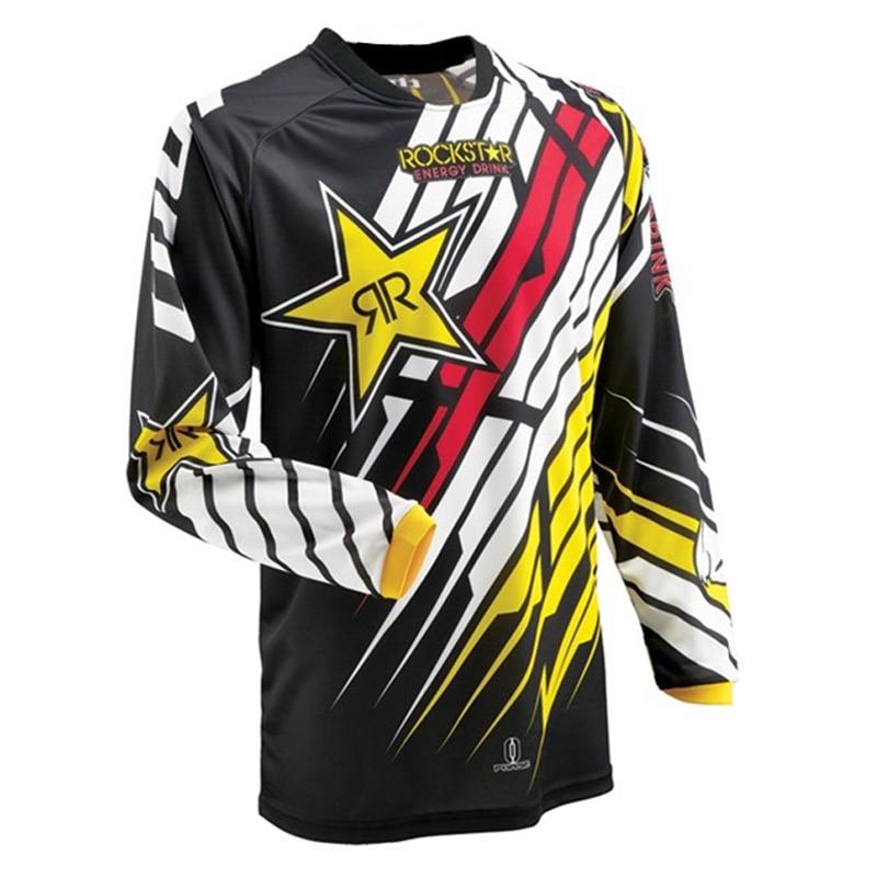 Мото Майки 2016 Rockstar Джерси дышащий мотокроссу спуске по бездорожью Mountain мотоцикл рубашка толстовка XXS-XXXXXL