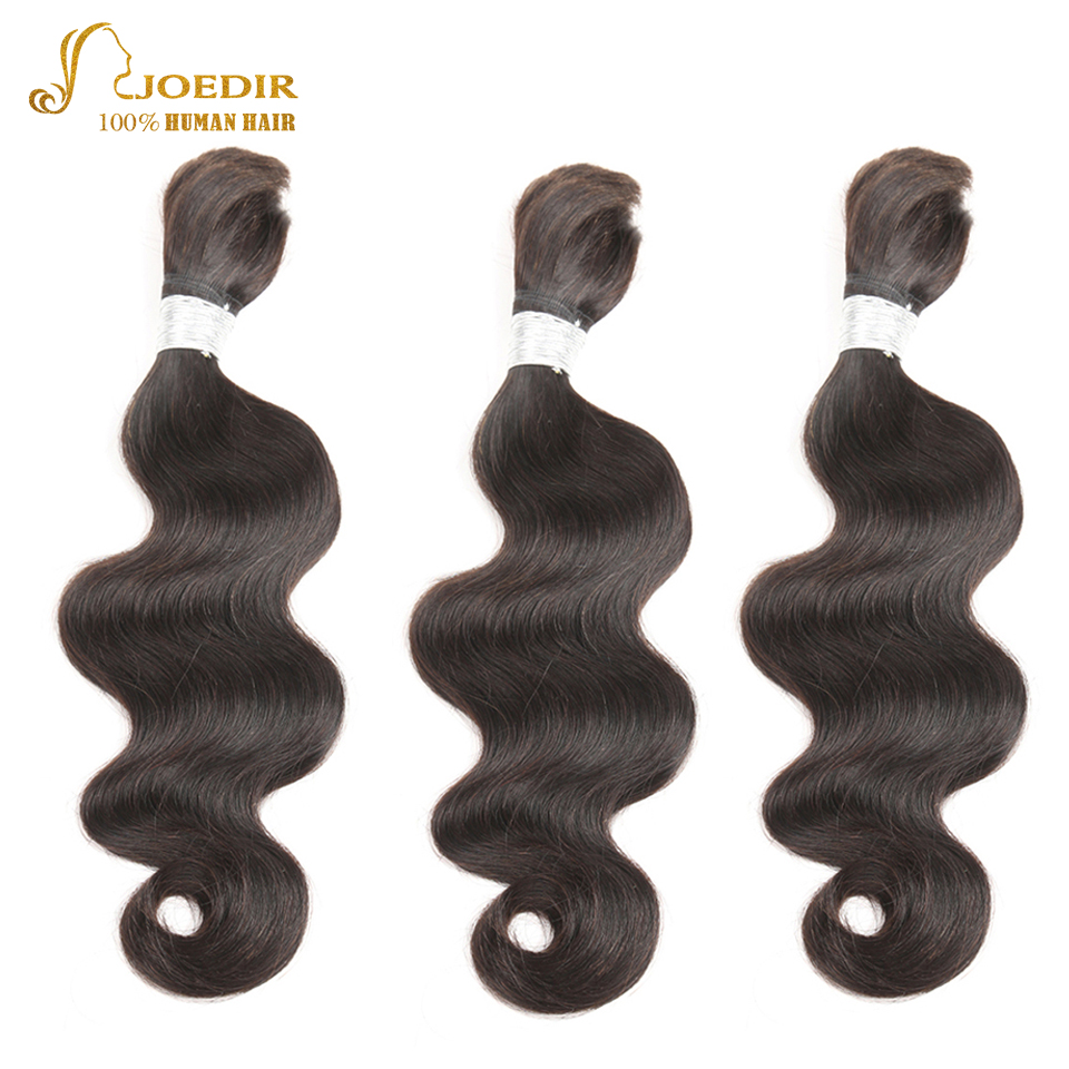 Joedir Hair 10 To 30 Inch Body Wave Remy Brazilian Bulk Human Hair For Braiding No Weft 3 Bundles Deal Bulk Crochet Human Hair