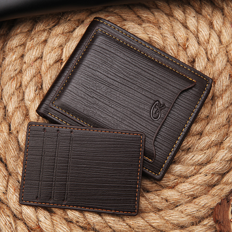 NEW Fashion Brands wallet men's coin pocket purse short clutch wallets credit card knife money clip Credit dollar Holder purses image