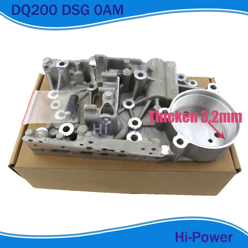 Thicken 3 2mm 0AM DQ200 DSG Valvebody accumulator housing Fit AUDI Skoda Seat Passat 0AM325066AC 0AM325066C