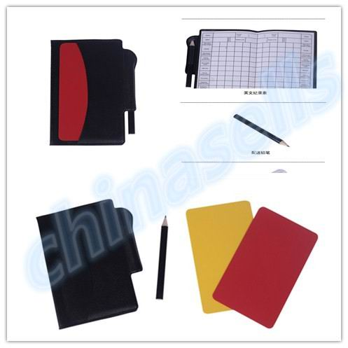 Soccer Champion Yellow And Red Cards Referee Special Warning Signs Red & Yellow Cards 1 Yellow Card +1 Red Card +1pcs Pen