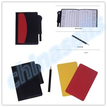 soccer champion yellow and red cards Referee special warning signs Red & yellow cards 1 Yellow card +1 Red card +1pcs pen red 1