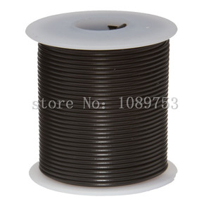 "22 AWG Gauge Stranded Hook Up Wire Black 30m 100 ft 0.0253"" UL1007 300 Volts(China)"