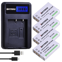 4Pcs NP 95 NP95 NP 95 Camera Battery + LCD USB Charger for FUJIFILM NP 95 F30 F31 F30fd F31fd 3D W1 X100T X100S X100 X S1 3DW1