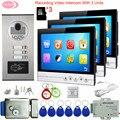 9 дюймов видеодомофон с записью + 8 Гб TF карты интеркомы для частных домов с замком проводной видеодомофон входной дверной Звонок