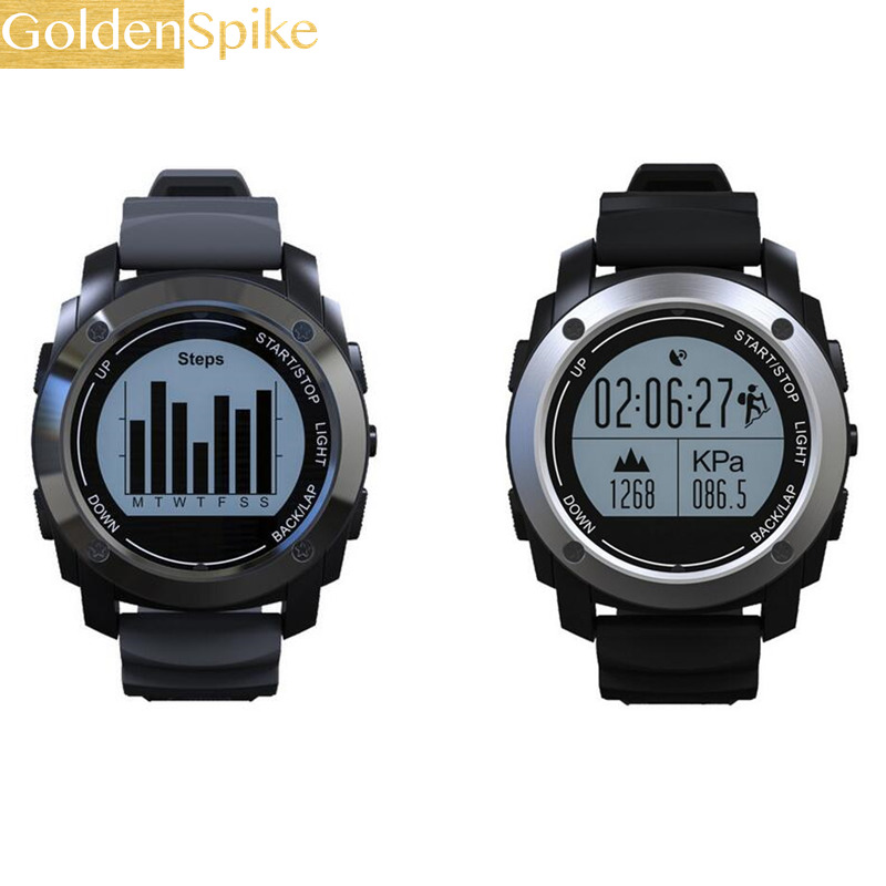 GOLDENSPIKE S928 Real-time HeartRate Track Smart Watch Bluetooth GPS Sport Smartwatch Pedometer Sedentary Remind Sleep Monitor l 2 smart watch health metal smartwatch inteligente reloj with sleep monitoring bluetooth sedentary remind camera pedometer