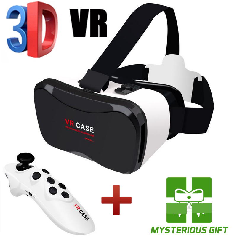 "New 3M Virtual Reality Smartphone <font><b>VR</b></font> <font><b>box</b></font> 3D Glasses <font><b>google</b></font> <font><b>cardboard</b></font> <font><b>Head</b></font> <font><b>Mount</b></font> 3D <font><b>Movie</b></font> Game 4-6.3"" <font><b>VR</b></font> Case+Control Gamepad"