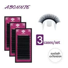3cases/lot 8-17mm High quality mink eyelash extension individual eyelashes natural eyelashes make up maquiagem cilios недорого