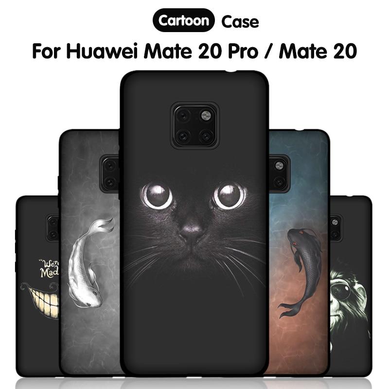 JURCHEN Weiche Silikon Fall Für Huawei Mate 20 Pro Fall Cartoon Nette Dünne Zurück Abdeckung Für Huawei Mate20 Pro 20 X 20X Telefon Fall