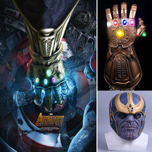 Thanos Mask  Led Glove Infinity Gauntlet 1:1 Avengers War Helmet Cosplay Latex Super Hero Masks Halloween Props