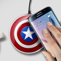 100% New Avengers Edition Qi Wireless Charger Mobile Phone Charging Pad for Samsung Galaxy S6 G9200 S6 Edge G9250 EP-PG920I