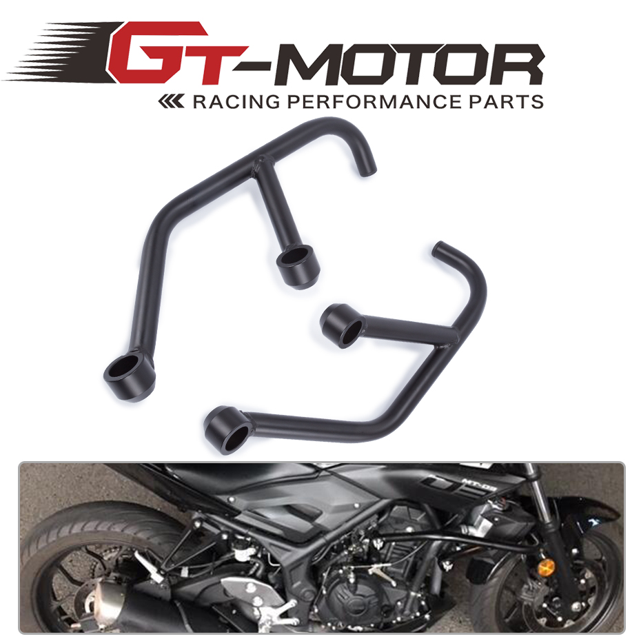GT Motor-2013 2014 2015 2016 FOR YAMAHA MT-03 MT-25 MT 03 MT 25 FZ 03 Black Engine Guard Crash Bar Protector high quality for bmw r1200gs 2013 2014 2015 motorcycle upper engine guard highway crash bar protector silver