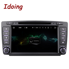 Idoing 2GB RAM 16G ROM Steering-Wheel 2Din Android6.0For Skoda Octavia 2 Car DVD Multimedia Player Navigation Built-in 3G Dangle