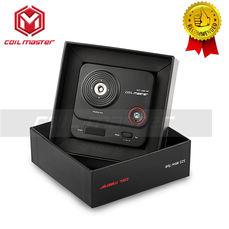 100% Original Coil Master 521 Mini V2 New Version Of Coil Master 521 Mini Tab For Electronic Cigarettes 510 Thread RDTA RDA RTA