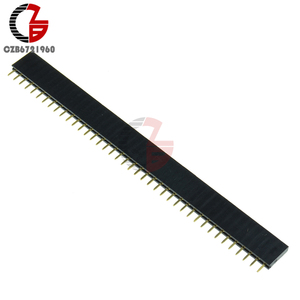 10Pcs 40Pin 2.54mm Single Row Female Pin Header Connector Strip 40 Pin JST Connector DIY for Arduino